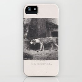 The Kennel, from the series Hunting Scenes,1829 iPhone Case