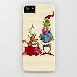 Grinch and Max iPhone Case