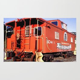 Lil Red Caboose -Wellsboro Ave Hurley ArtRave Rug