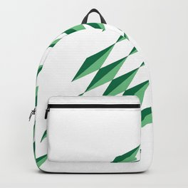 Green Diamonds by FreddiJr Backpack