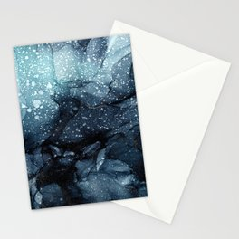 Moody Ocean Seas Ink Abstract Painting Stationery Cards
