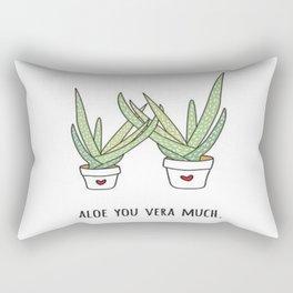 Aloe You Very Much Rectangular Pillow