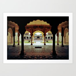 Temple of Ozoo Art Print