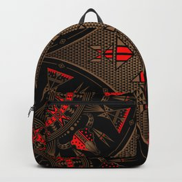 buffalo gathering Red Backpack