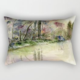 The End Of Wonderful Day Rectangular Pillow