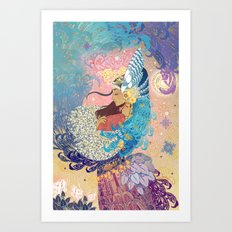 Goddess tenderness Art Print