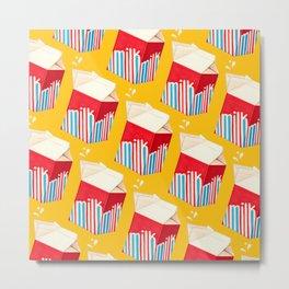 Milk Pattern - Yellow Metal Print