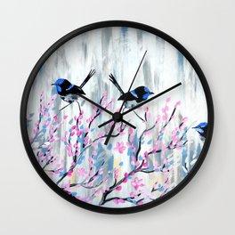 Grey and Blush Wall Clock