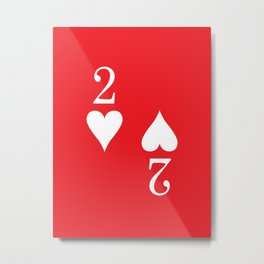 Two Of Hearts Graphic Metal Print