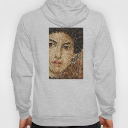 Detail of Woman Portrait. Mosaic art Hoody