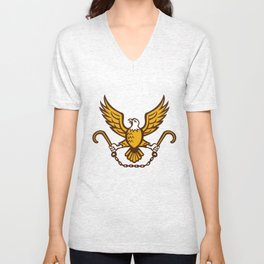 American Eagle Clutching Towing J Hook Retro Unisex V-Neck
