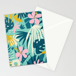 Not All Those Who Wander Are Lost #painting #tropical Stationery Cards