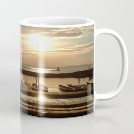 Lake Champlain Ferry to Burlington Vermont at Sunset Coffee Mug