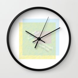 Tugging chest Wall Clock