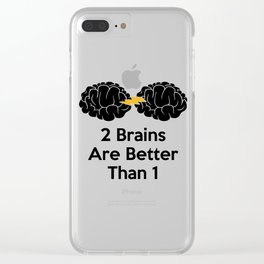 2 Brains Are Better Than 1 Clear iPhone Case