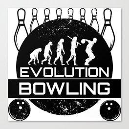 Evolution Bowling   Strike Team League Spare Canvas Print