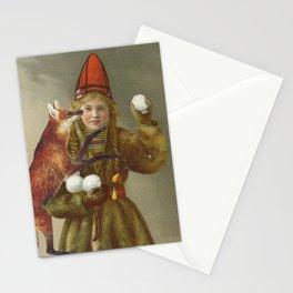 Red fox return Stationery Cards