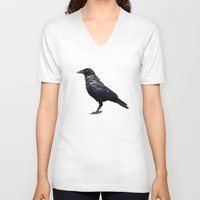 band V-neck T-shirts featuring Raven Band by Vin Zzep
