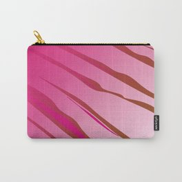 Zigzag wild lines Pink Carry-All Pouch