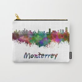 Monterrey skyline in watercolor Carry-All Pouch
