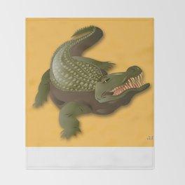 Crocodile - 'A Fantastic Journey' Throw Blanket