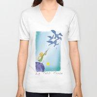 le petit prince V-neck T-shirts featuring Le Petit Prince by karicola