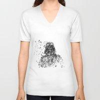 darth vader V-neck T-shirts featuring Darth Vader by malobi