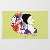 geisha Area & Throw Rugs featuring Geisha by Line Westendahl