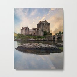 Eilean Donan Castle at sunrise Metal Print