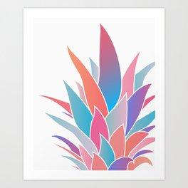 Pineapple Top Art Print