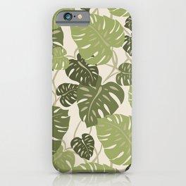 Cliff Hanger Monstera Leaf Hawaiian Print    iPhone Case