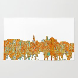 Alexandria, Virginia Skyline - Rust Rug