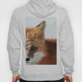 Snowy Faced Cheeky Fox with Tongue Out Hoody