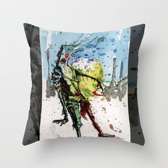 desert zombie Throw Pillow