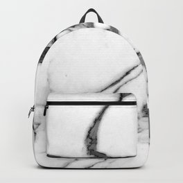 Pearl White Marble With Black Avant-Garde Veins Backpack