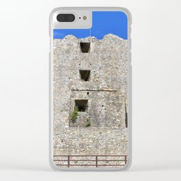 medieval fortress tower Clear iPhone Case