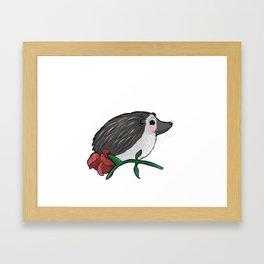 Hedgehog Rose Framed Art Print