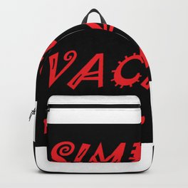 Simply Vacant Backpack