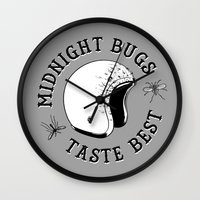 bugs Wall Clocks featuring Bugs by The Junkers