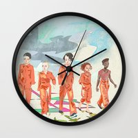 misfits Wall Clocks featuring Misfits by aNiark
