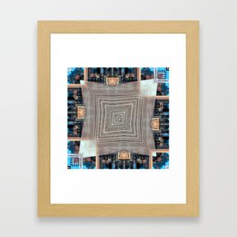 colored trapezoid Framed Art Print