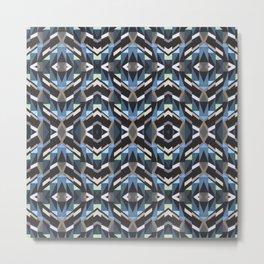 Geometric Garden Pattern Metal Print