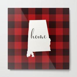 Alabama is Home - Buffalo Check Plaid Metal Print