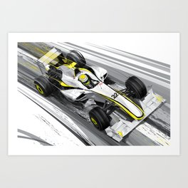 Mercedes Brawn BGP 001 F1 2009 Art Print