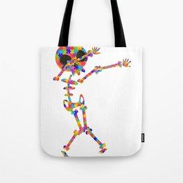 Dabbing Skeleton For Autism Tote Bag