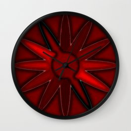 shadow in red Wall Clock