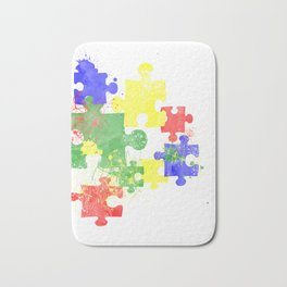 Autism Pieces Bath Mat