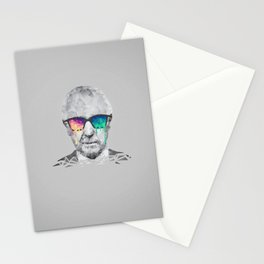 Albert Hofmann - Psychedelic Polygon Low Poly Portrait Stationery Cards