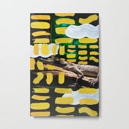 Painted Croc by Ezekiel Kitchen Metal Print