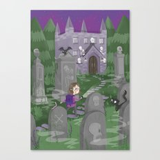 Exploring the Graveyard Canvas Print